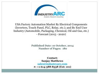USA Factory Automation Market by Electrical Components: Globally, potential market segments for this industry are the au
