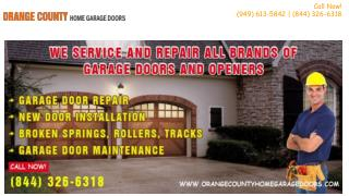 Broken Garage Door Springs Repair & Replacement – Orange County, CA