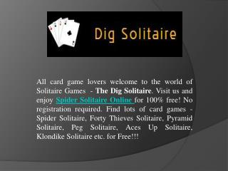 Play Spider Solitaire Online For Free