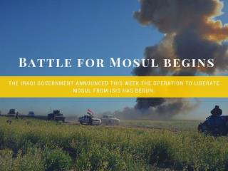 Battle for Mosul begins