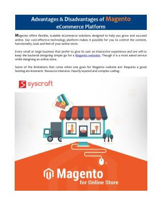 Advantages and Disadvantages of Magento