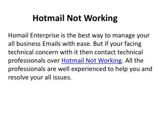 Hotmail Not Working 1-888-264-6472