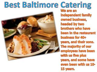 Best Baltimore Catering