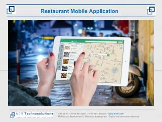 Mobile app for restaurants, table booking, takeaway order, food delivery