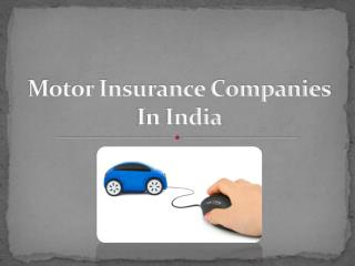 Motor Insurance Companies In India