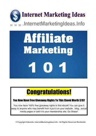 Quick Way To Make Money - Affiliate Marketing Series