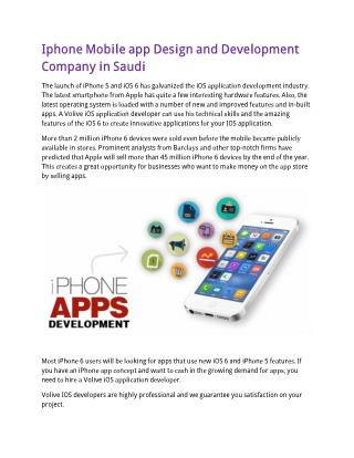 Iphone Mobile app Design and Development Company in Saudi