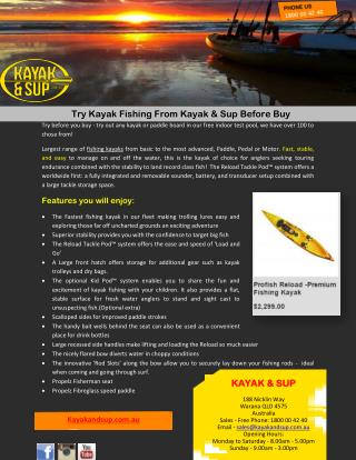 Try Kayak Fishing From Kayak & Sup Before Buy