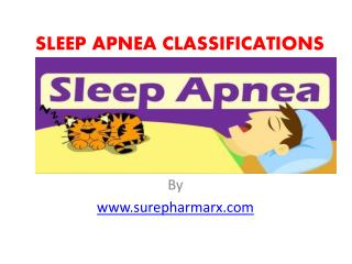 Sleep Apnea Classifications