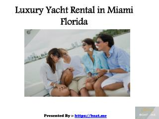 Luxury Yacht and Pontoon Boat Rental in Miami Florida