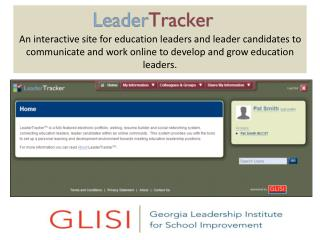 An interactive site for education leaders and leader candidates to communicate and work online to develop and grow educa