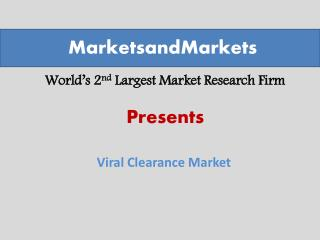 Viral Clearance Market worth 510.3 Million USD by 2020
