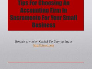 Tips For Choosing An Accounting Firm In Sacramento For Your Small Busi