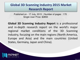 Global 3D Scanning Industry Report on Competitor Startegies