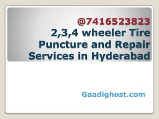 Mobile tyre puncture service in hyderabad | mobile bike, car repair in hyderabad