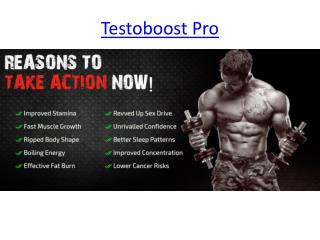 Icrease T-Level with Testoboost Pro