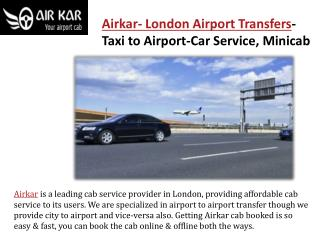 London airport transfers taxi to airport-car service-minicab