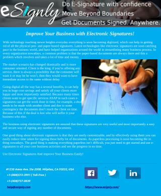 Improve Your Business with Electronic Signatures