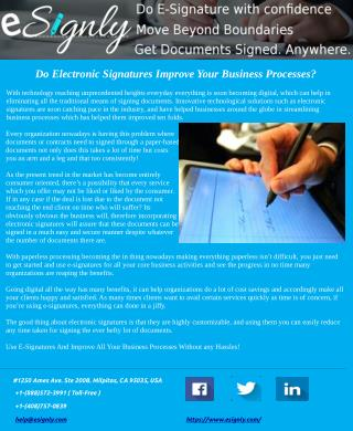 Do Electronic Signatures Improve Your Business Processes?