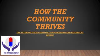 How the community thrives