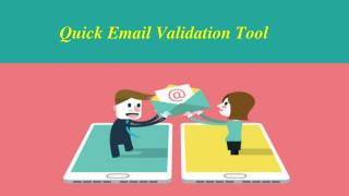 Quick Email Validation Tool