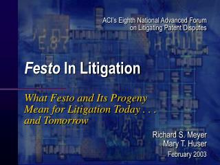Festo  In Litigation