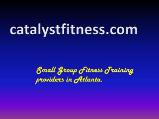 Group fitness Training Atlanta