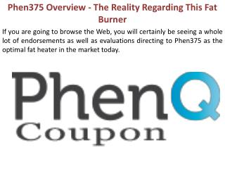 Phen375 Overview - The Reality Regarding This Fat Burner
