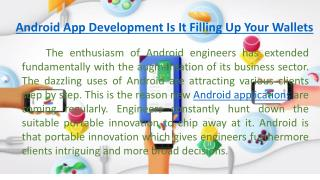 Android App Development Is It Filling Up Your Wallets