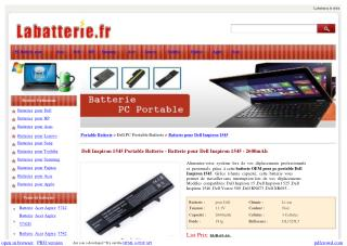 Dell Inspiron 1545 Portable Batterie