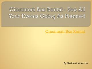 Cincinnati Bus Rental