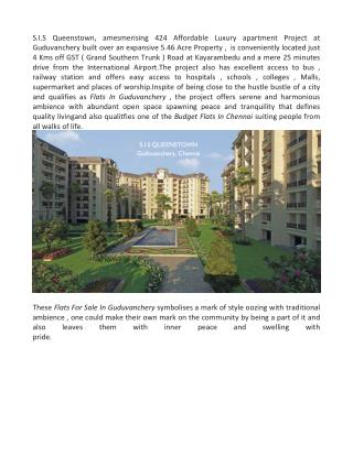 Flats for sale in Guduvanchery
