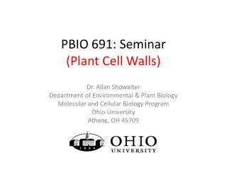 PBIO 691: Seminar (Plant Cell Walls)