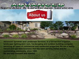 Irrigation in Plano
