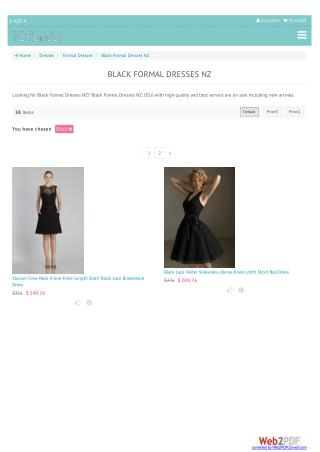 Black formal Dresses
