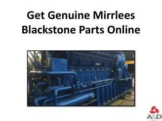 Get Genuine Mirrlees Blackstone Parts Online
