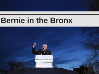 Bernie in the Bronx