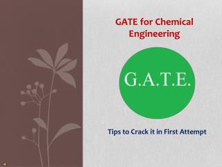 How to crack Gate for Chemical Engineering