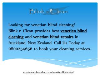 Venetian Blind Cleaning - Blink n Clean