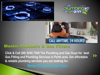Master Plumbers & Gas Fitters