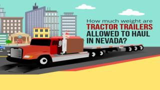 How much weight are tractor trailers allowed to haul in Nevada?