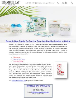 Bramble Bay Candle Co Provide Premium Quality Candles In Online