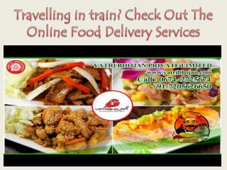 Travelling in train? Check Out The Online Food Delivery Services