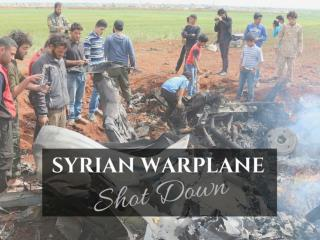 Syrian warplane shot down