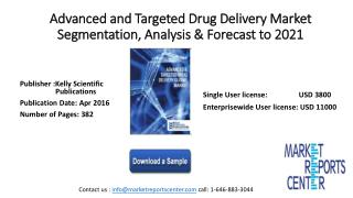 Advanced and Targeted Drug Delivery Market Segmentation, Analysis & Forecast to 2021