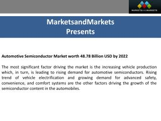 Automotive Semiconductor Market by Component - 2022 | MarketsandMarkets