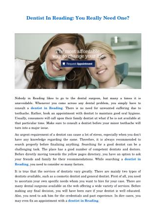 Dentist In Reading-Affordable Dental Solutions.pdf