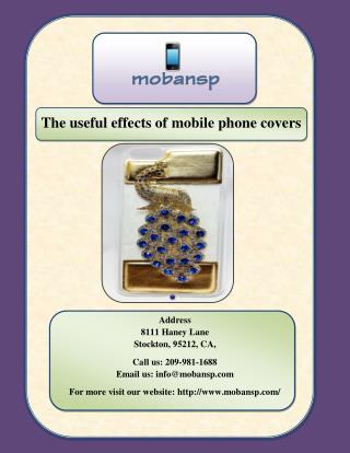The useful effects of mobile phone covers