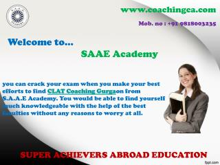 Choose the perfect CLAT Coaching Gurgaon