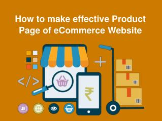How to make effective Product Page of eCommerce Website